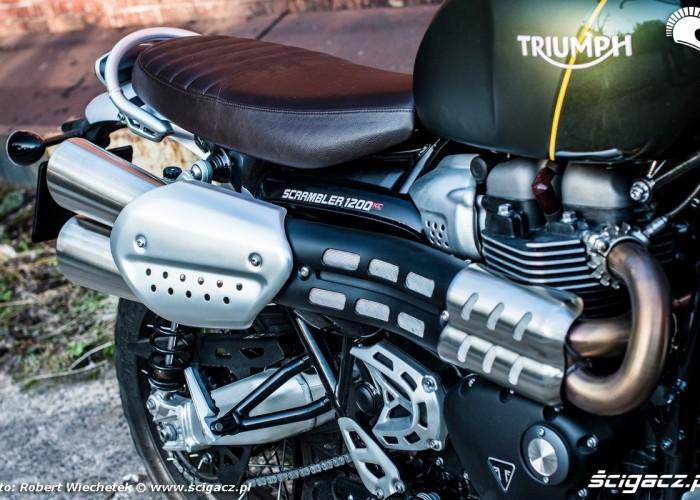 Triumph Scrambler 1200 XC wydech