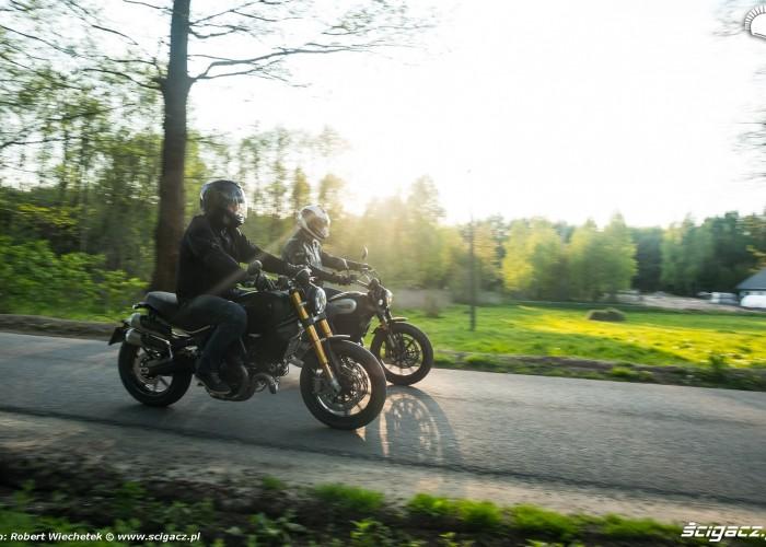 17 Ducati Scrambler 800 Ducati Scrambler 1100 jazda w duecie