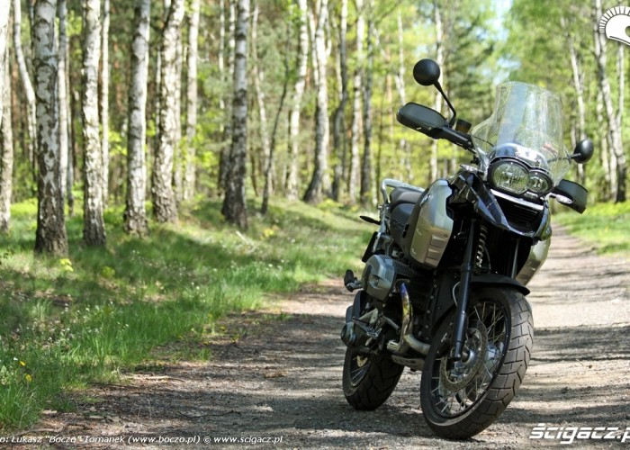 BMW R1200GS na sciezce