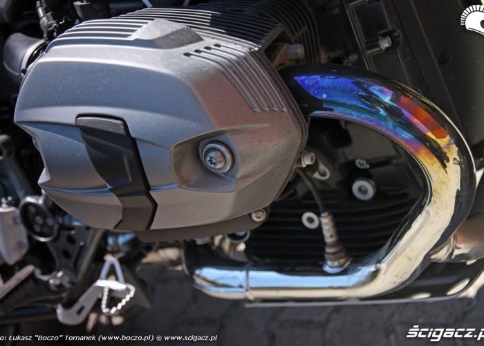 BMW R1200GS przypalone kolektory