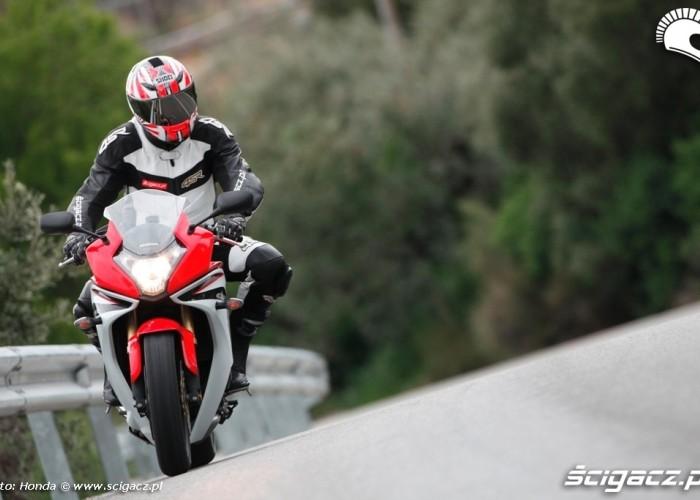 Wejscie w zakret Honda CBR600F