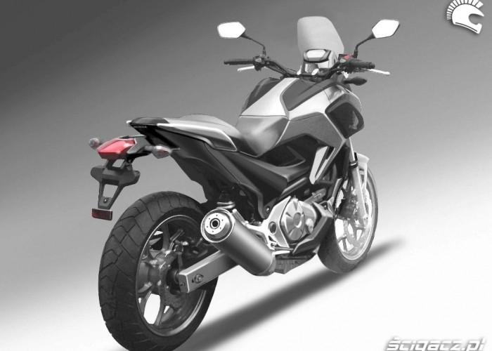 Honda NC700X ostateczny ksztalt