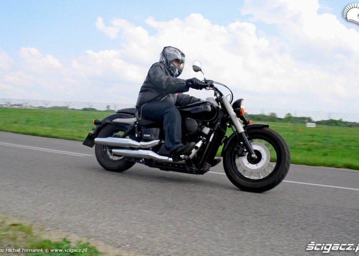 Honda Shadow Black Spirit jazda