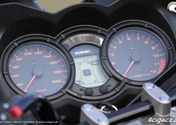 zegary Suzuki DL650 test