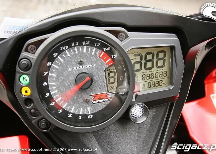 GSXR1000 zegary