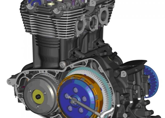 Triumph Thunderbird lewy przekroj