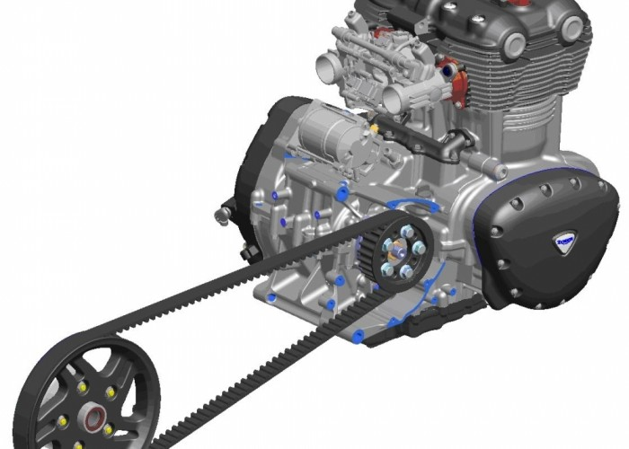 Triumph Thunderbird silnik pas