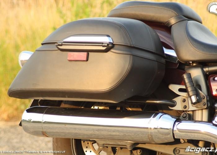 Yamaha XVS950 statyka kufer