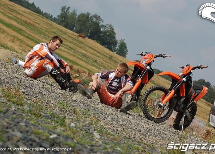 KTM EXC R zawodnicy