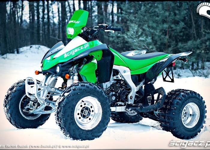 Kawasaki KFX450R z boku