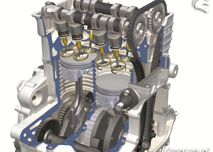 BMW C650 GT silnik R2