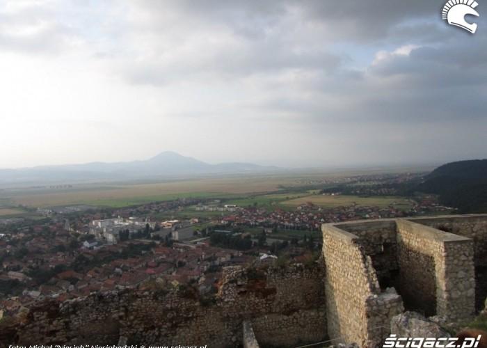 19 rumunia widok z twierdzy w Risnov