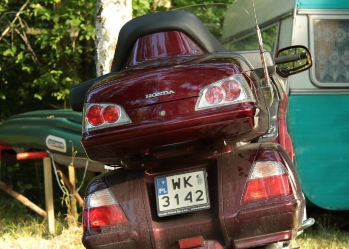 Honda Goldwing w trasie oboz