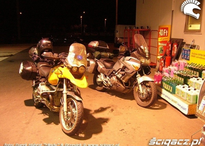 BMW 1150 GS i Honda Varadero - stacja