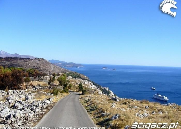 Chorwacja - droga wbrzezem