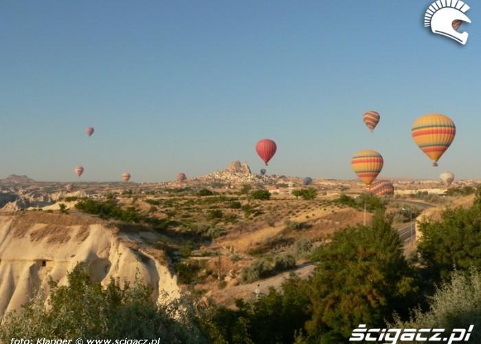 balony nad kapadocja skuterem do turcji