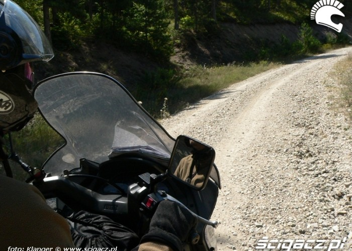 boczna droga do Ankary skuterem do turcji