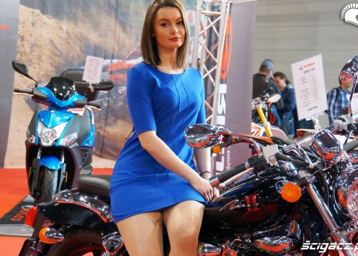 Kymco hostessa Poznan Motor Show 2017