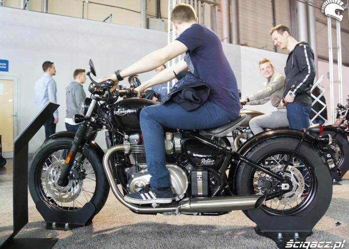 Triumph Bonneville Bobber Poznan Motor Show 2017