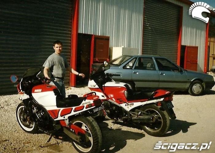 Pierwsze motocykle sprowadzone przez Rafala z Francji 1994