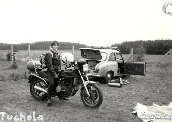 Pierwszy motocykl 750ccm Rafala zakupiony za sprzedana 250ke i Fiata 127