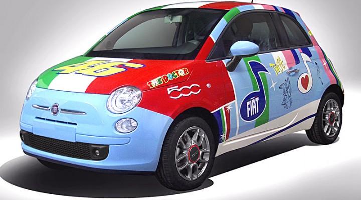 Fiat 500 Valentino Rossi