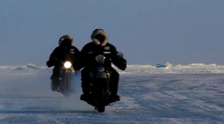 Harleye na lodzie