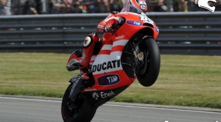 Ducati Sachsenring Hayden Wheelie