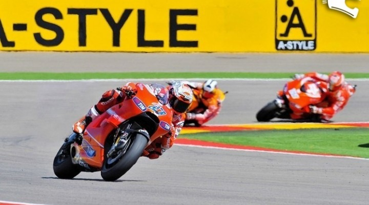 stoner Dovizioso hayden MotoGP Aragon 2010