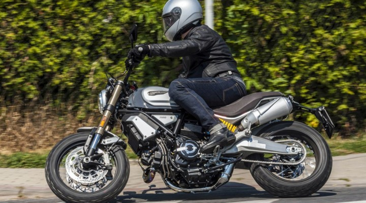 Ducati Scrambler 1100 Special test motocykla 2018 akcja z