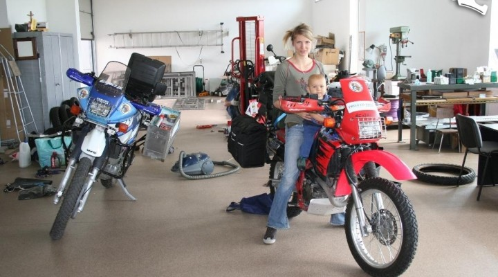 Motocyklem przez afryke Honda