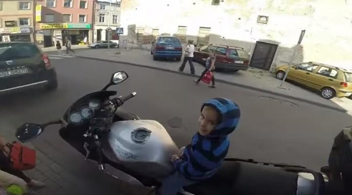 przyszly motocyklista z