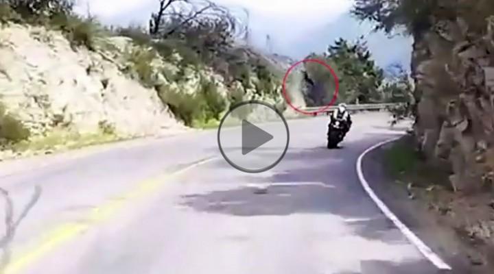 motocyklem w przepasc z