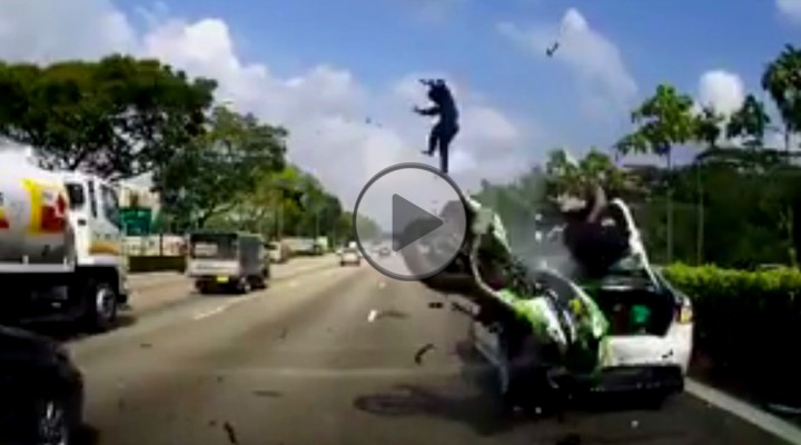 wypadek motocyklowy z
