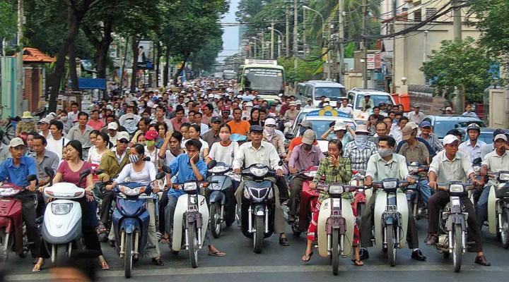 Wietnam ruch uliczny z