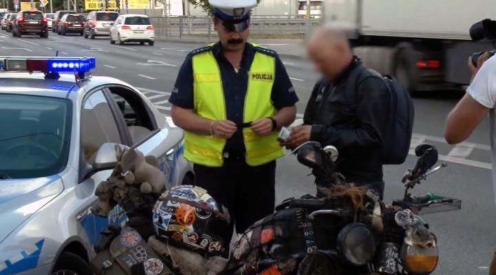 rat bike i policja z