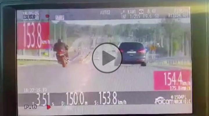 nagranie z wideorejestratora z