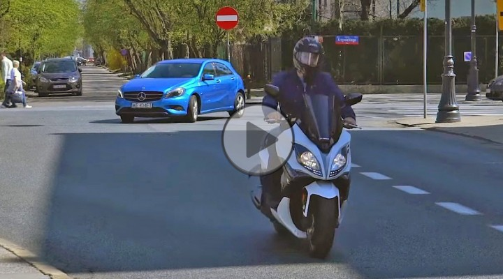 Kymco X Citing 400 vs Mercedes Klasy A z
