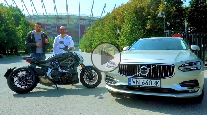 Ducati XDiavel vs Volvo V90 Stadion Narodowy z