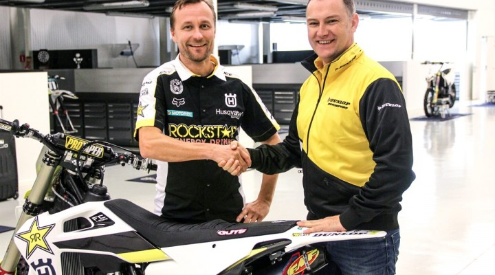 Rockstar Energy Husqvarna Factory Racing MXGP partner with Dunlop z
