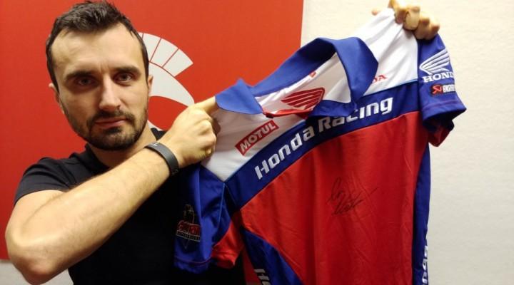 Barry Koszulka Polo Honda Racing z autografem IAN HUTCHINSON z