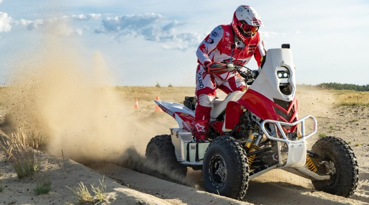 Trening Rafala Sonika przed Silk Way Rally z