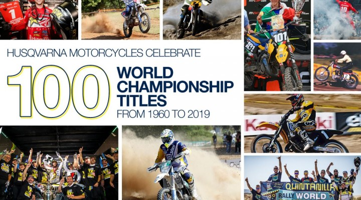 HUSQVARNA MOTORCYCLES CELEBRATE 100 WORLD CHAMPIONSHIP TITLES z