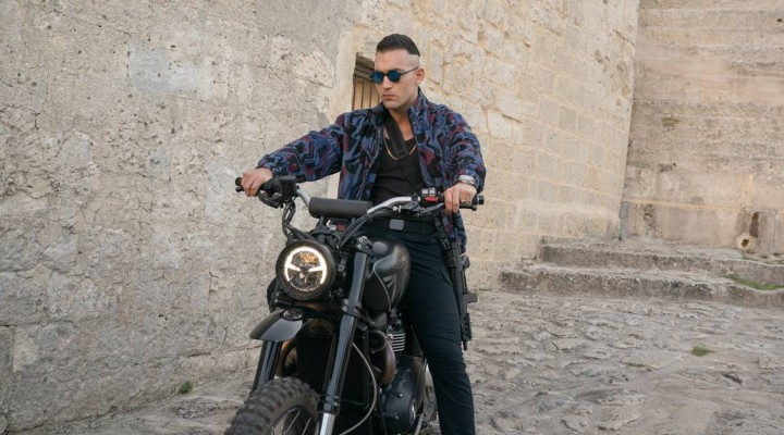 3Triumph Scrambler 1200 XE ridden in No Time To Die by Primo on location in Matera Italy LR z