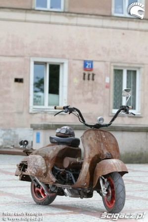 35 Yamaha Ospa JOG 50 RR rat rust scoot custom