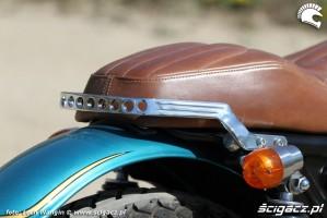 24 Kawasaki W 650 Flying Duxe custom bobber siedzenie