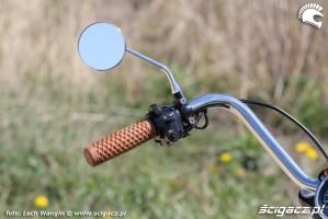 28 Kawasaki W 650 Flying Duxe custom bobber lusterko