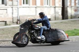 03 Harley Davidson Sportster 1200 Led Sled custom na drodze