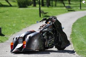 34 Harley Davidson Sportster 1200 Led Sled custom