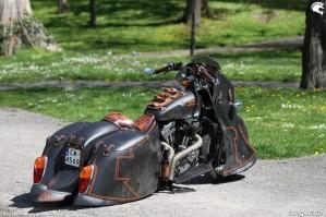 42 Harley Davidson Sportster 1200 Led Sled custom